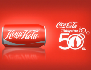 koka-kola 50.yil logo